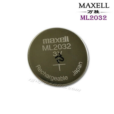 1PCS Maxell ML2032 2032 One Single Rechargeable Coin Cell Battery 3V #T7205 YS