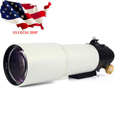 90mm F500 Refractor Astronomical Telescope OTA DSLR Photography W/T-ring US SHIP