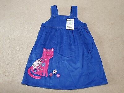 Jojo Maman Bebe cat pinafore dress 2-3 Years BNWT