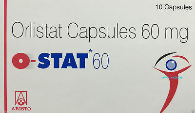 O- STAT  ObiNil HS Orlistat 20 Capsules of 60 mg Ct Weight Loss Fat Burn Diet.