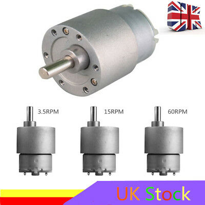 DC 12V 3.5/15/60/100/120/300RPM High Torque Gear Box Micro Electric Motor UK CDD