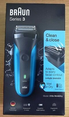 310s Wet & Dry Braun Series 3 Mens Rechargeable Electric Shaver Razor - NEW