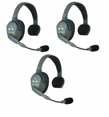 Eartec UL3S UltraLITE 3-Person System, Includes Single and Dual Headset