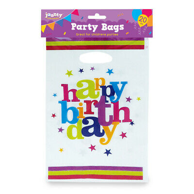 Party Bags Childrens Happy Birthday Plastic Loot Gift Bag Boys Girls Filler