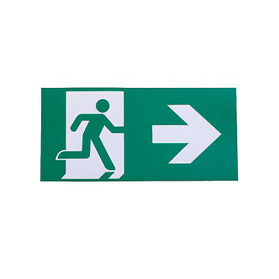 Right Arrow Exit Sign For Emergency Exit Sign Fixture (Adhesive)