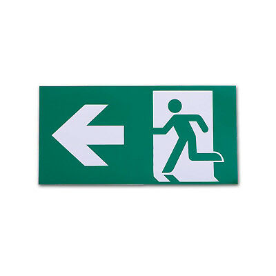 Left Arrow Exit Sign For Emergency Exit Sign Fixture (Adhesive)