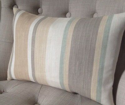 Cushion Covers handmade in Laura Ashley Awning Stripe Biscuit /& Eau de Nil