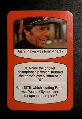 GOLF - SOUTH AFRICA - GARY PLAYER - rare vintage sports game card