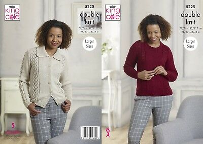 KINGCOLE 5225 DK KNITTING PATTERN 28-46 INCH -not the finished garments