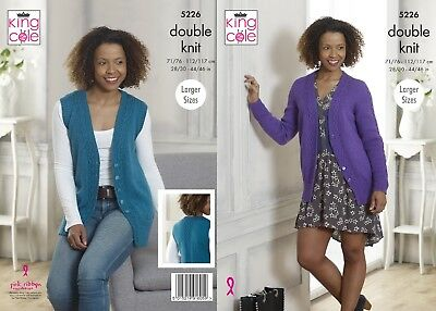 KINGCOLE 5226 DK KNITTING PATTERN 28-46 INCH -not the finished garments