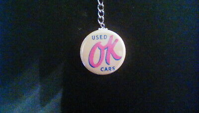 O K used car key chain mint 1957 chevy 1961 chevy corvette firebird chevelle gto