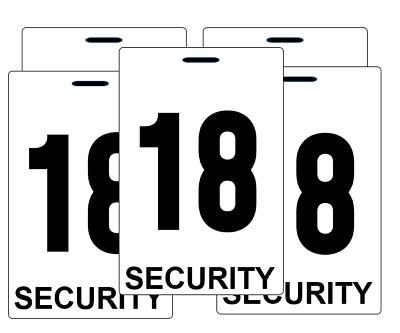 Security guard crowd controller number tag ID plastic PVC card bulk high quality
