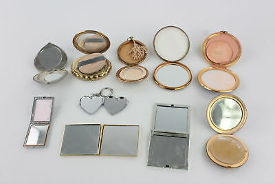 10 x Vintage Ladies Vanity Compacts & Mirrors Mixed Inc. Stratton, KIGU Etc