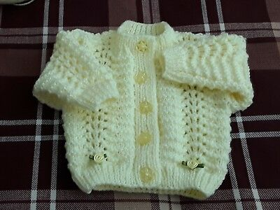 892cd62eb NEW HAND KNITTED babies unisex matinee set in a soft pale green to ...