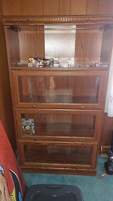 *LOCAL PICKUP ONLY* vintage particle board display case glass curio 5ft HIEGHT.