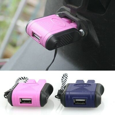 Single USB Charger Battery Electric Plug Pink Blue 36V-130V Samsung Iphone TypeC