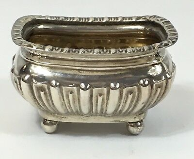 Antique Solid Silver Salt -James Deakin 1898