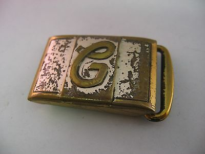 Vintage Made in USA G Initial Belt Buckle Jewelry
