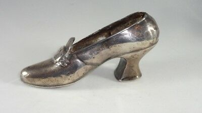 Vintage Sterling Silver Weighted UNGER BROS. Figural Shoe Pin Cushion As-IS