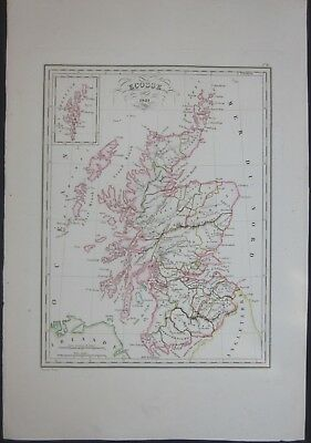 1837 ECOSSE Malte-Brun Huot Scotland North Sea