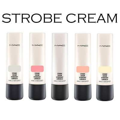 Mac Strobe Cream Pinklite Peachlite Goldite Silverlite Redlite 50Ml Bnib Uk