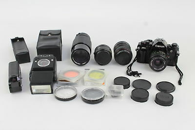 CANON A.1 Camera Outfit Inc. 28-50mm Lens, 70-210 Lens Flash, Filters WORKING
