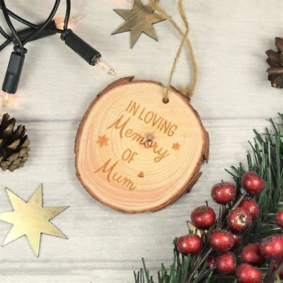 Personalised Engraved Wooden Christmas Bauble - Rememberance In Memory Memorial