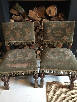 Antique Tapestry Chairs