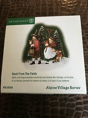 Dept 56 Heritage Village Collection Alpine Village Series BACK FROM THE FIELDS