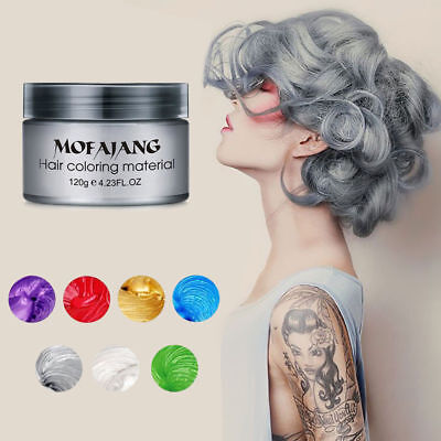 Temporary & instant Washout Hair Colour Wax by MOFAJANG 120g-8 COLOURS-FREE POST