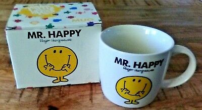 Mr. Happy Roger Hargreaves Collectible Mug With Box Included
