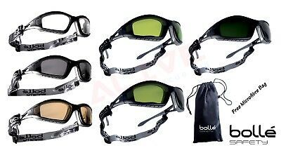 Bolle TRACKER II Safety Glasses Goggles Spectacles & FREE pouch bag