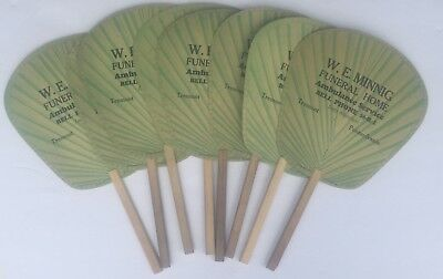 W.E. Minningl funeral home Tremont, PA hand fans lot of 8 advertising piece