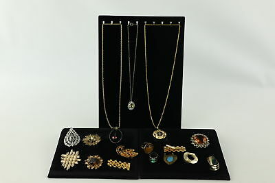 15 VINTAGE MID CENTURY MODERNIST JEWELLERY inc. Brooches, Rings, Necklaces