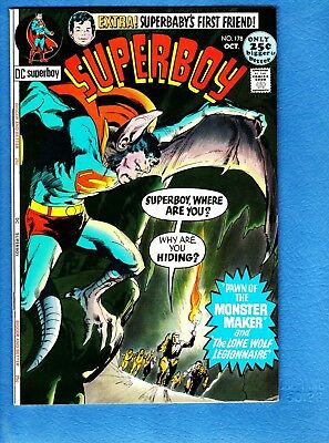 Superboy #178, 1971, VF+ 8.5,Neal Adams Bat cover, 52 pages