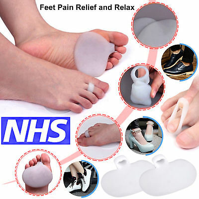 2X Gel Forefoot Support Metatarsal Sore Ball of Foot Pain Cushions Pads Insoles