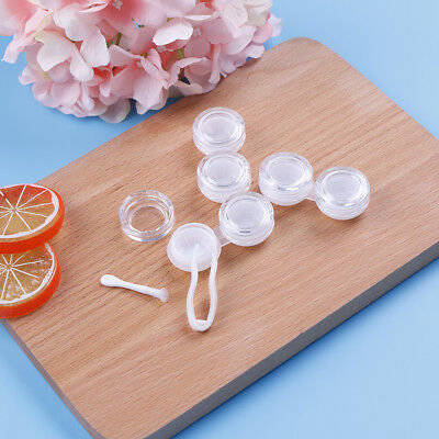 3Xcontact lens box transparent objective travel portable case storage  container
