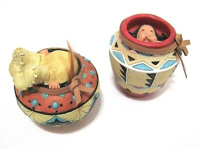 Friends Of The Feather Topsy Pot and Hide & Seek Pot Enesco Figurines 267848