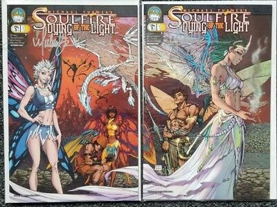 SIGNED Soulfire Dying the Light #1 Michael Turner Connecting Variant Set NM COA
