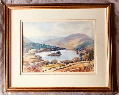 Original 1993 Watercolour Of The Lake District By The Late Bill Toop.