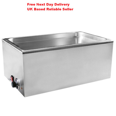 New 1/1 Electric Wet Heat Well Bain Marie Pot Food Warmer Holder Catering Cafe