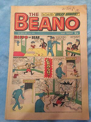 Beano Comic No 1630 October 13th 1973, Biffo the Bear, FREE UK POSTAGE
