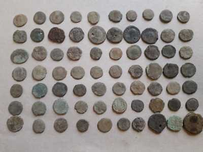 Lot Of 70 Ancient Bronze Roman Coins  Uncleaned Medium Quality