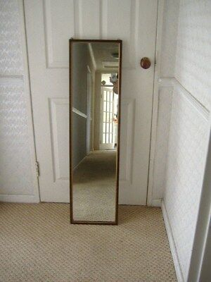 Lovely Long, Hall Mirror, Vintage Heavy With Chain,in Good Condition