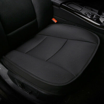 Universal PU Leather Deluxe Auto Cover Seat Protector Cushion Front Cover Black