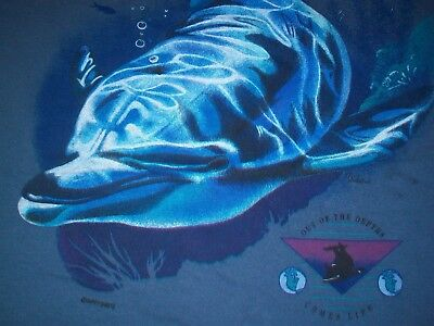 HAWAII DOLPHIN OUT OF SEA COMES LIFE t shirt L orca whale shark turtle animal