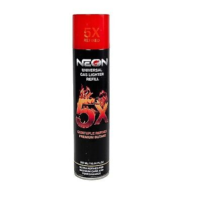 1x Can NEON 5x PURIFIED BUTANE GAS LIGHTER TORCH REFILL 300ml ULTRA REFINED
