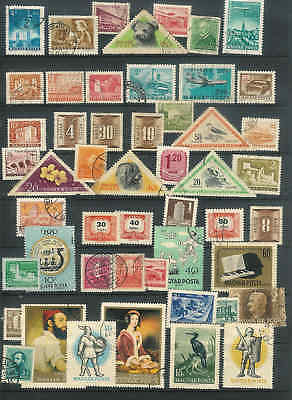 A top collection of Vintage Hungary Magyar Posta stamps 50 in total NICE LOT F13
