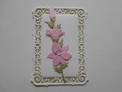Die cuts - Embossed Lily - Assembled  Flowers Card Toppers Mats (4)