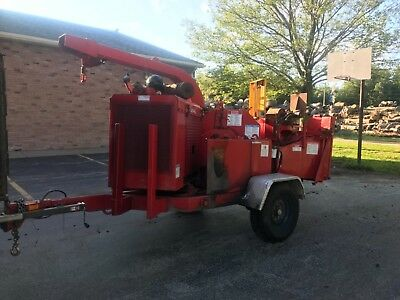 2006 bandit 200xp wood chipper, cat diesel winch brush crush